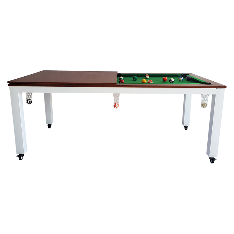 Pool table black 8 dining conference table table tennis table multi-functional entertainment 2 in 1 adult American pool