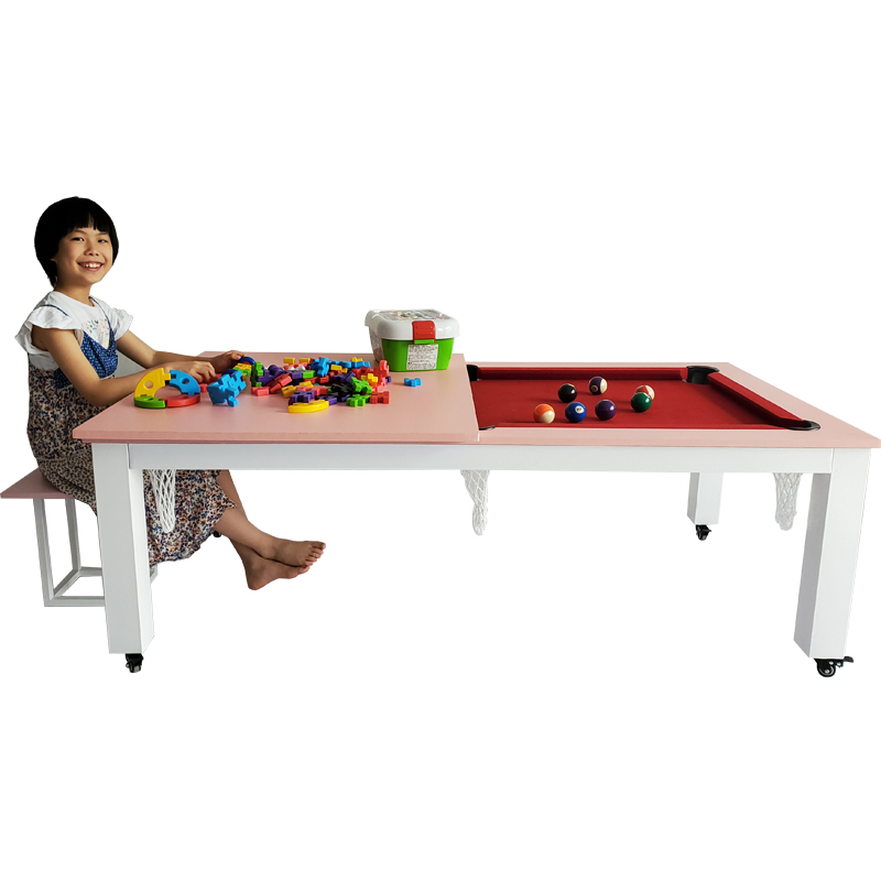 Children's multi-functional mobile billiards table, table tennis table, desk, toy table